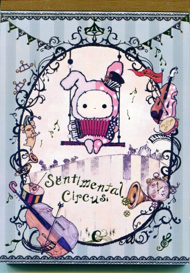 Image 0 of San-X Sentimental Circus 5 Design Memo Pad #8 (M1116)
