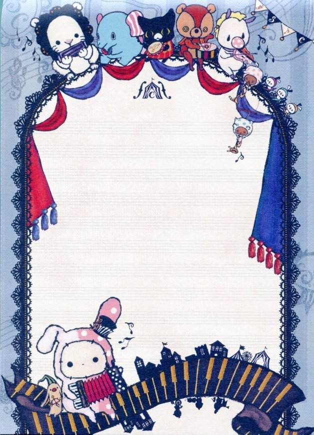 Image 1 of San-X Sentimental Circus 5 Design Memo Pad #8 (M1116)
