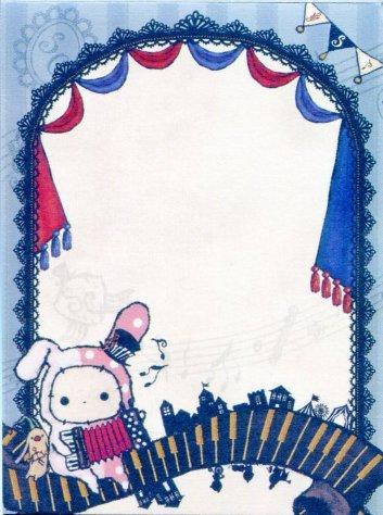 Image 2 of San-X Sentimental Circus 2 Design Mini Memo Pad #9 (M1117)