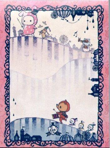 Image 1 of San-X Sentimental Circus 2 Design Mini Memo Pad #10 (M1118)