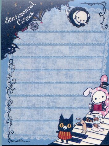 Image 1 of San-X Sentimental Circus 2 Design Mini Memo Pad #11 (M1119)