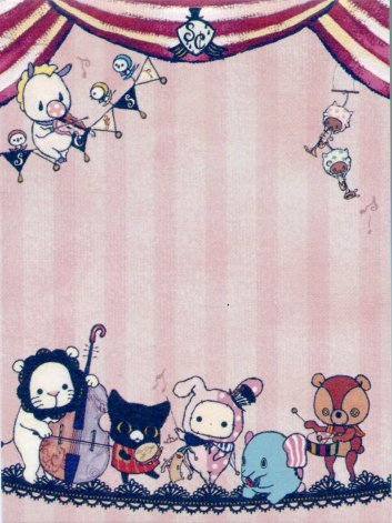 Image 2 of San-X Sentimental Circus 2 Design Mini Memo Pad #12 (M1120)