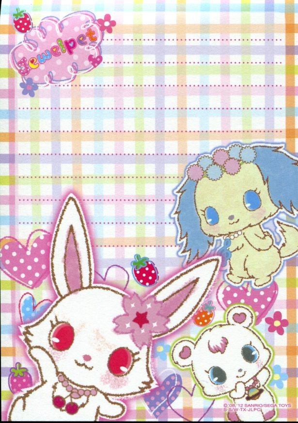 Image 5 of Sanrio Jewelpet 8 Design Memo Pad #1 (M1161)