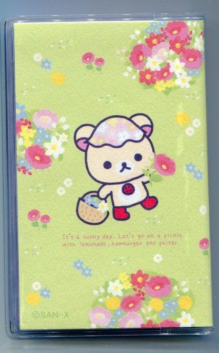 Image 1 of San-X Rilakkuma Relax Bear 20 Pockets Card Holder #1 (SH0068)
