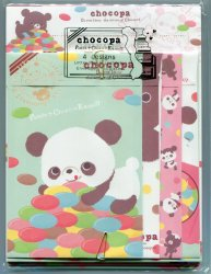 Thumbnail of San-X Chocopa Panda 4 Design Letter Set #3 (L1066)