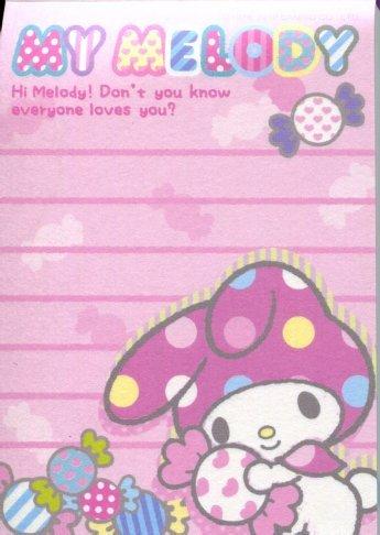 Image 1 of Sanrio My Melody 4 Design Mini Memo Pad #3 (M1182)