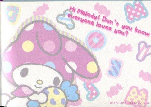 Image 2 of Sanrio My Melody 4 Design Mini Memo Pad #3 (M1182)