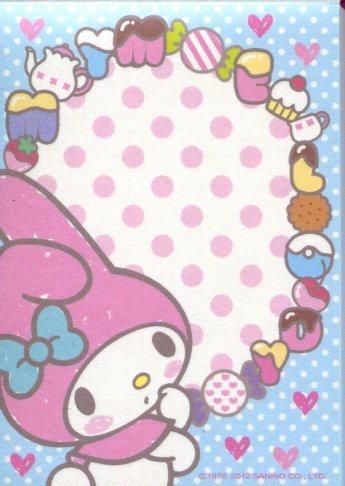 Image 3 of Sanrio My Melody 4 Design Mini Memo Pad #3 (M1182)