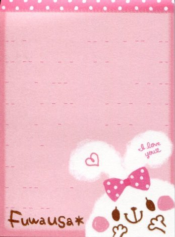 Image 1 of Kamio Fuwausa Rabbit 2 Design Mini Memo Pad #1 (M1191)