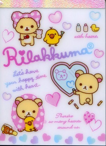 Image 0 of San-X Rilakkuma Relax Bear 2 Design Mini Memo Pad #38 (Bath Time) (M1195)