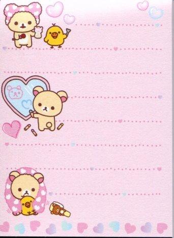 Image 1 of San-X Rilakkuma Relax Bear 2 Design Mini Memo Pad #38 (Bath Time) (M1195)