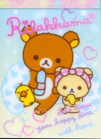 Image 0 of San-X Rilakkuma Relax Bear 2 Design Mini Memo Pad #39 (Bath Time) (M1196)