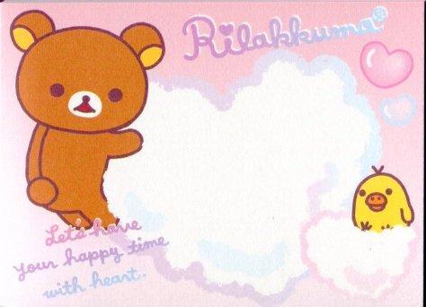 Image 2 of San-X Rilakkuma Relax Bear 2 Design Mini Memo Pad #40 (Bath Time) (M1197)