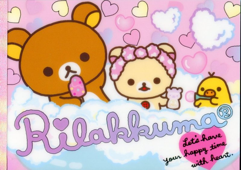 Image 0 of San-X Rilakkuma Relax Bear 5 Design Memo Pad #15 (Bath Time) (M1198)
