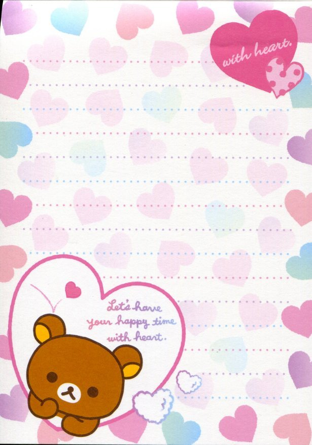 Image 2 of San-X Rilakkuma Relax Bear 5 Design Memo Pad #15 (Bath Time) (M1198)
