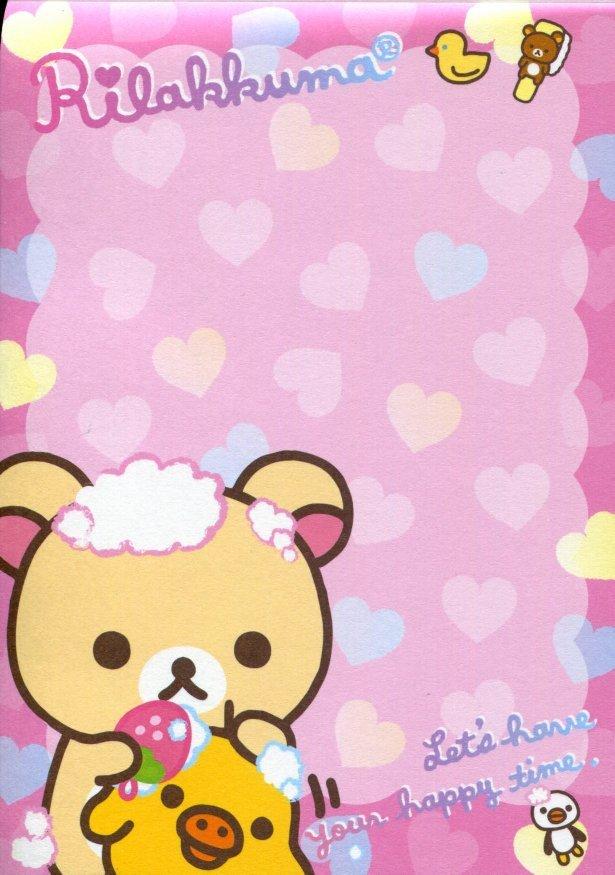Image 1 of San-X Rilakkuma Relax Bear 5 Design Memo Pad #16 (Bath Time) (M1199)