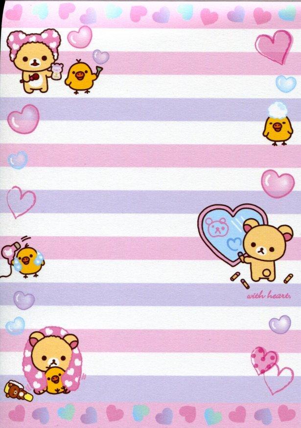 Image 3 of San-X Rilakkuma Relax Bear 5 Design Memo Pad #16 (Bath Time) (M1199)