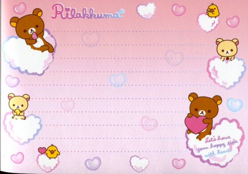 Image 4 of San-X Rilakkuma Relax Bear 5 Design Memo Pad #16 (Bath Time) (M1199)