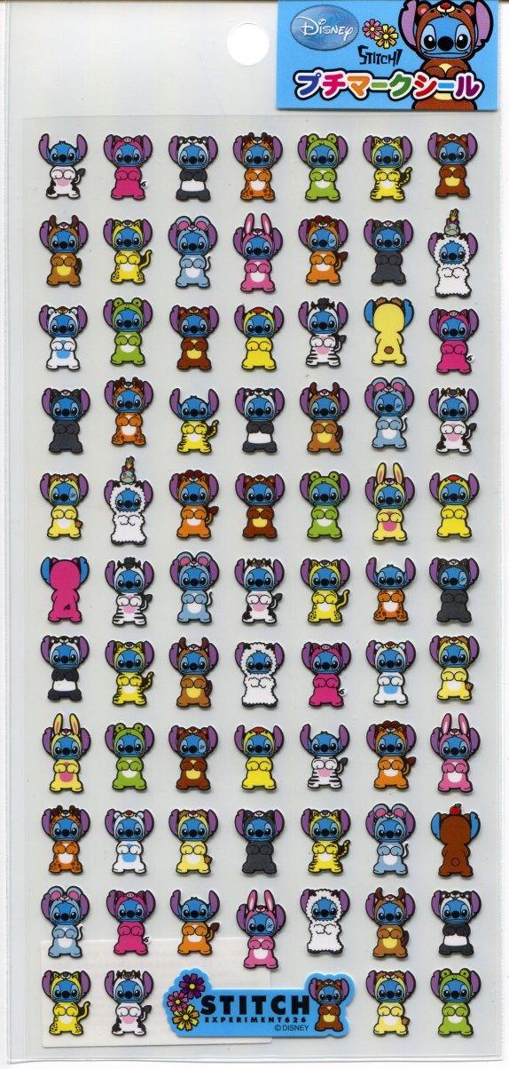 Image 0 of Disney Stitch Petit Mark Sticker Sheet #1 (I1353)