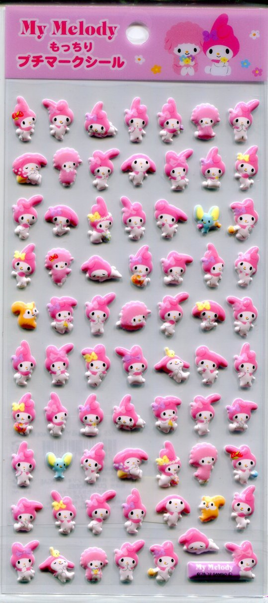 Image 0 of Sanrio My Melody Sponge Petit Mark Sticker Sheet #3 (I1368)