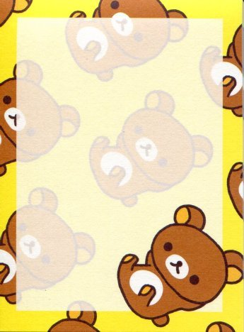Image 2 of San-X Rilakkuma Relax Bear 2 Design Mini Memo Pad #41 (Rilakkuma) (M1215)