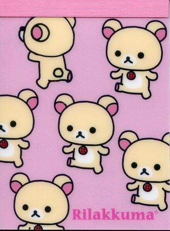 Image 0 of San-X Rilakkuma Relax Bear 2 Design Mini Memo Pad #42 (Rilakkuma) (M1216)