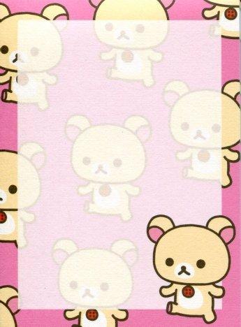 Image 2 of San-X Rilakkuma Relax Bear 2 Design Mini Memo Pad #42 (Rilakkuma) (M1216)
