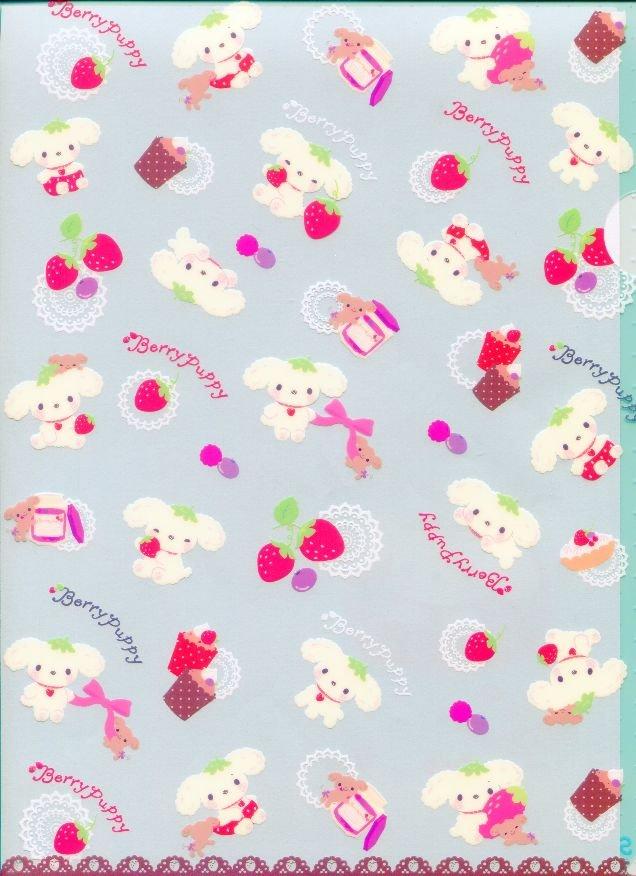 Image 0 of San-X Berry Puppy Dog A4 Plastic File Folder #1
