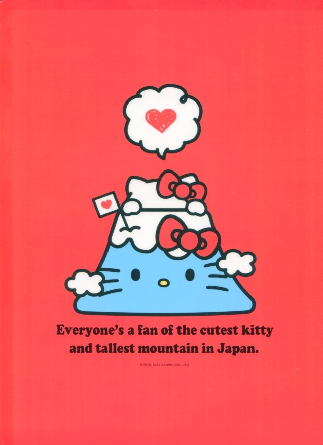 Image 1 of Sanrio Hello Kitty I Love Japan A4 Plastic File Folder #1 (FF1101)