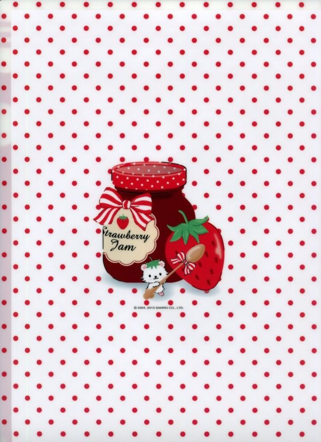 Image 1 of Sanrio Charmmy Kitty Strawberry A4 Plastic File Folder #2 (FF1120)