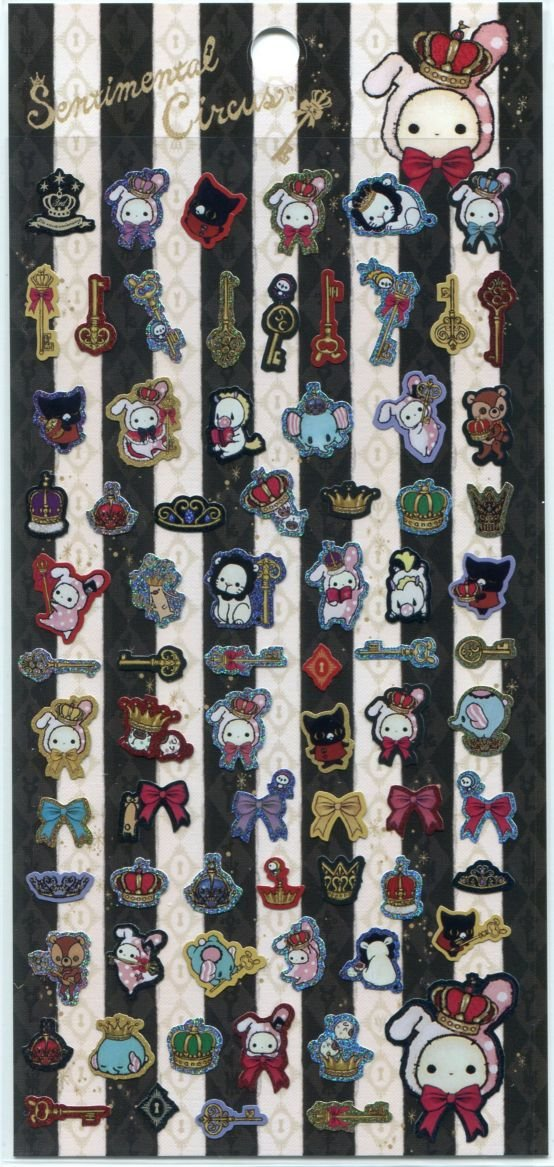 Image 0 of San-X Sentimental Circus Sticker Sheet #11 (I1390)