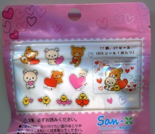 Image 1 of San-X Rilakkuma Relax Bear 11 Design Sticker Set Sack Pack #2 (IP0133)