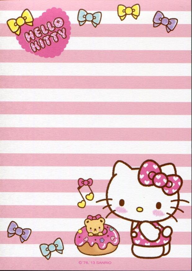 Image 1 of Sanrio Hello Kitty 8 Design Memo Pad #5 (M1256)