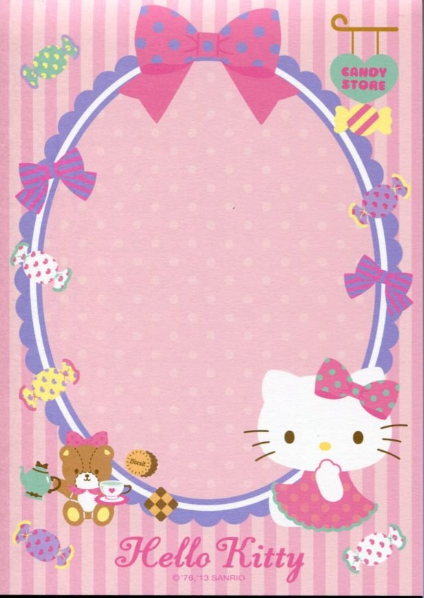 Image 6 of Sanrio Hello Kitty 8 Design Memo Pad #5 (M1256)