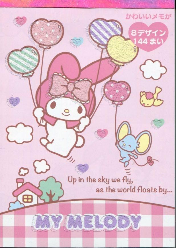 Image 0 of Sanrio My Melody 8 Design Memo Pad #3 (M1257)