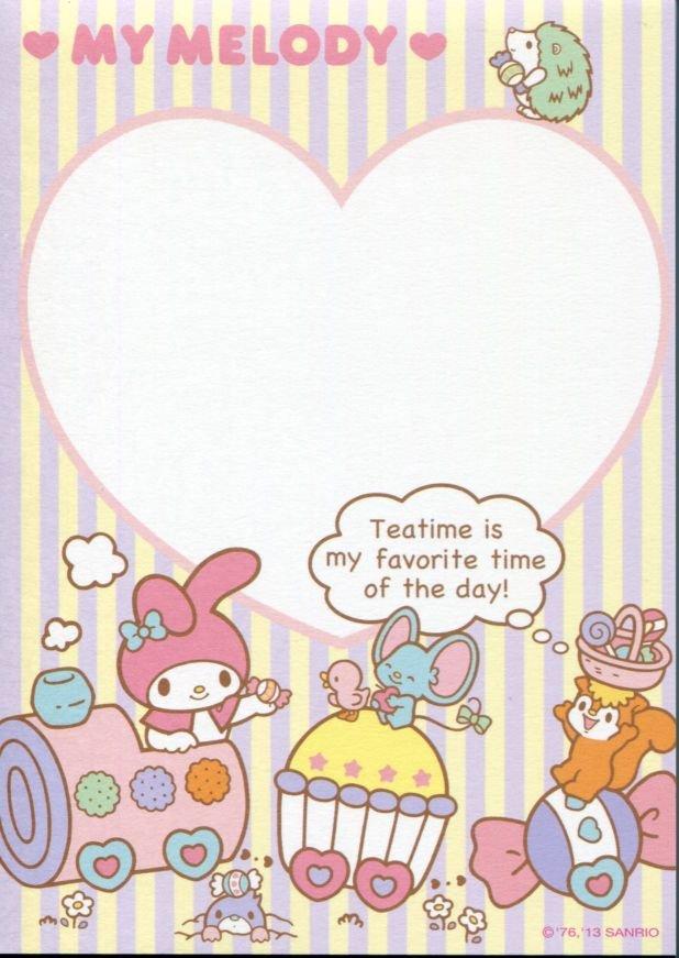 Image 3 of Sanrio My Melody 8 Design Memo Pad #3 (M1257)
