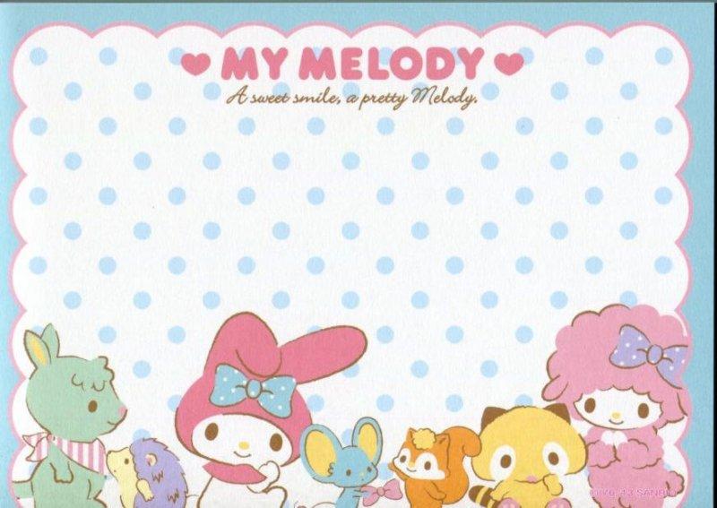 Image 4 of Sanrio My Melody 8 Design Memo Pad #3 (M1257)