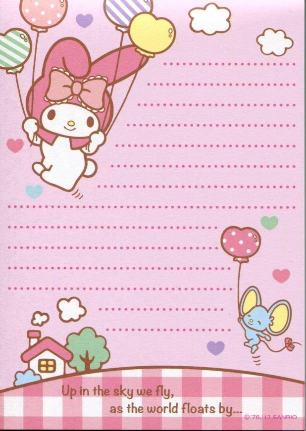 Image 5 of Sanrio My Melody 8 Design Memo Pad #3 (M1257)
