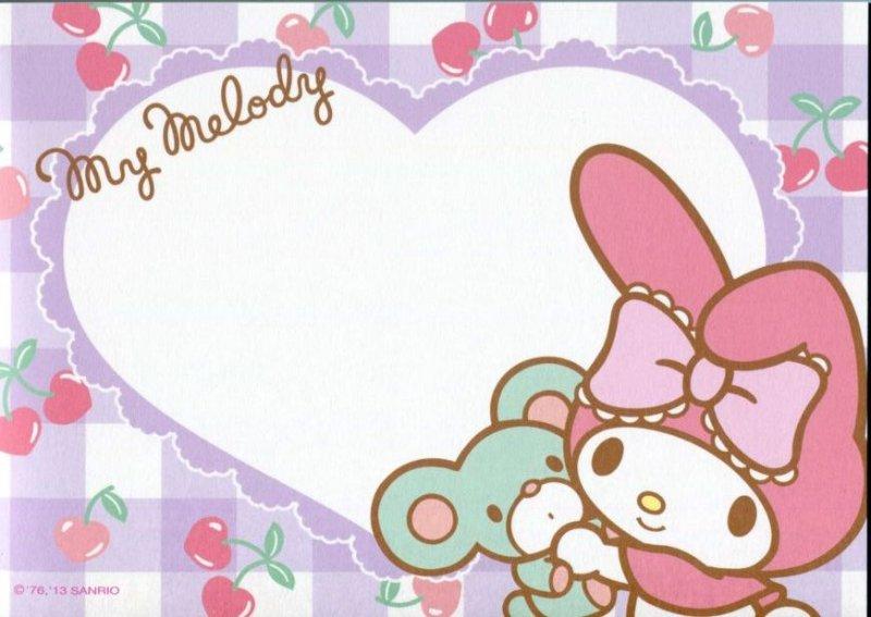 Image 6 of Sanrio My Melody 8 Design Memo Pad #3 (M1257)