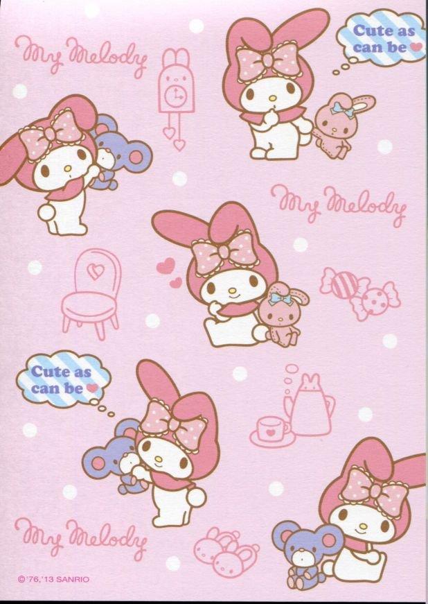 Image 7 of Sanrio My Melody 8 Design Memo Pad #3 (M1257)
