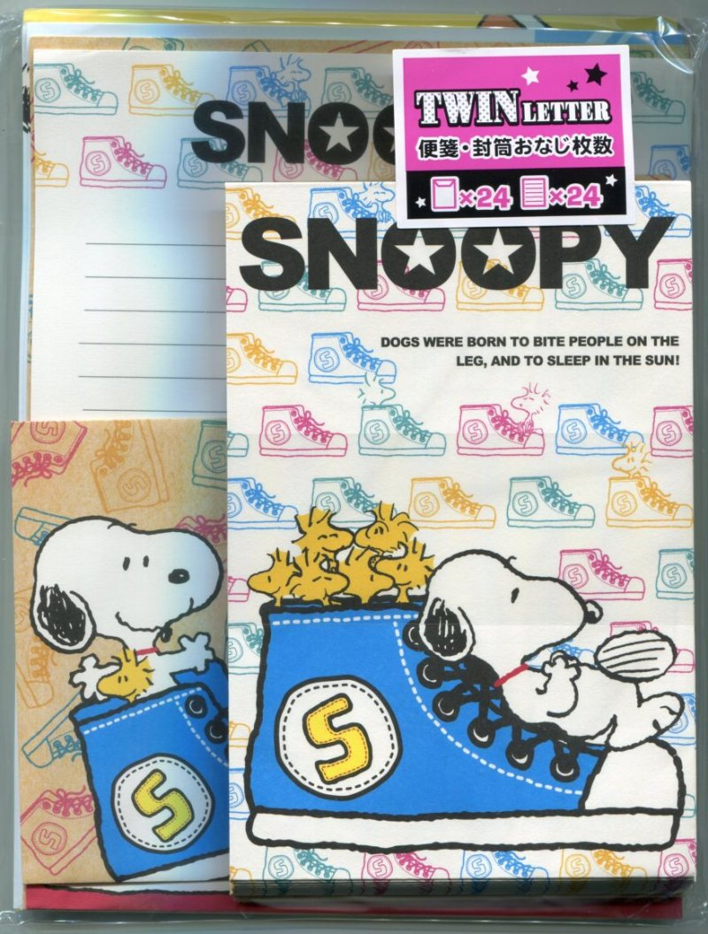 Image 0 of Peanuts Snoopy 4 Design Letter Set #18 (L1127)