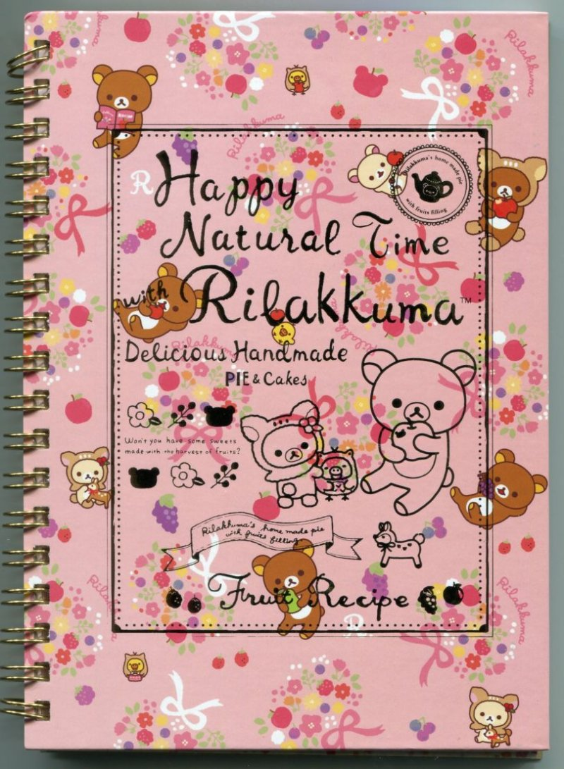 Image 0 of San-X Rilakkuma Relax Bear Spiral Notebook Memo #23 (Happy Natural Time)(NB0150)
