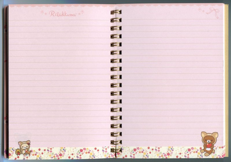 Image 1 of San-X Rilakkuma Relax Bear Spiral Notebook Memo #23 (Happy Natural Time)(NB0150)