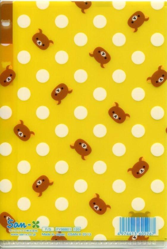 Image 1 of San-X Rilakkuma Bear Index 3 Pockets A6 Mini Plastic File Folder #13 (FF1136)