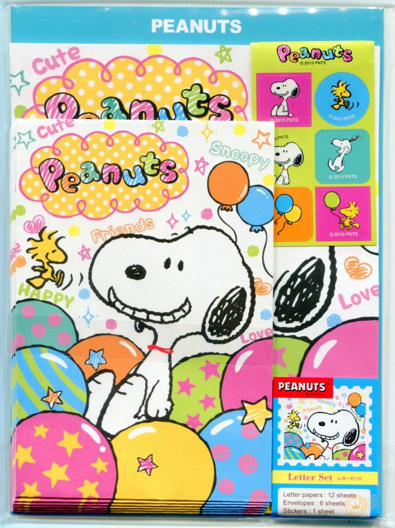 Image 0 of Peanuts Snoopy Letter Set #1 (L1133)