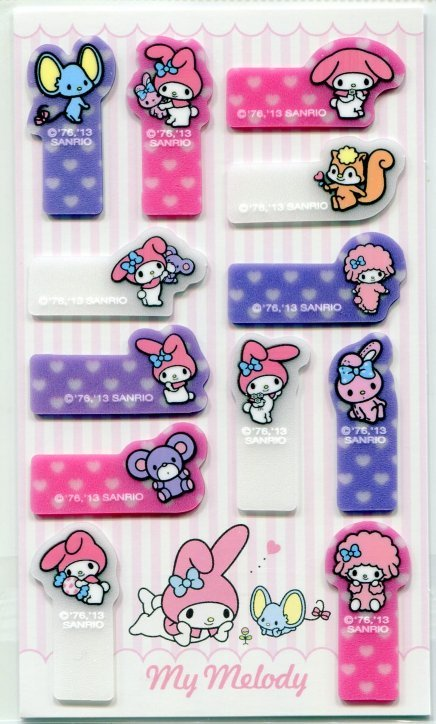 Image 0 of Sanrio My Melody 12 Design Semi-transparent Sticky Note #1 (MP0208)