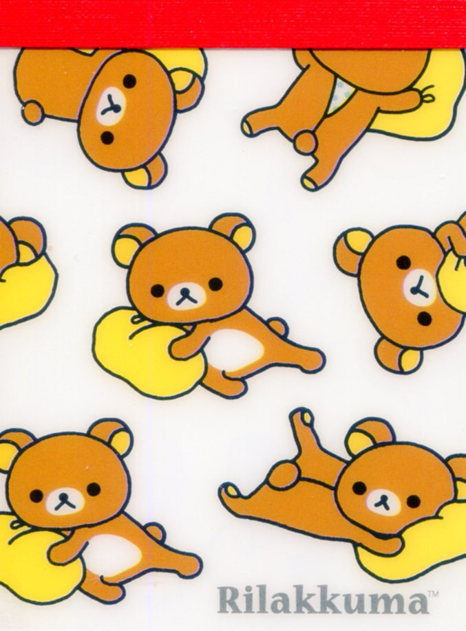 Image 0 of San-X Rilakkuma Relax Bear 2 Design Mini Memo Pad #51 (Rilakkuma Part 2) (M1271)