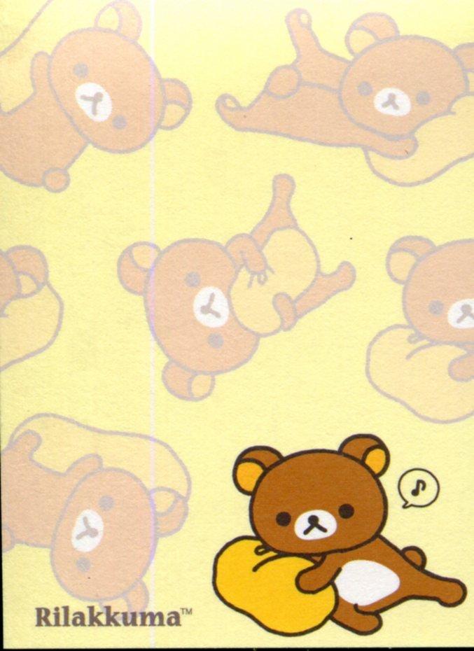 Image 1 of San-X Rilakkuma Relax Bear 2 Design Mini Memo Pad #51 (Rilakkuma Part 2) (M1271)