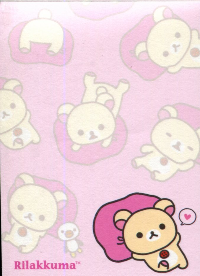 Image 1 of San-X Rilakkuma Relax Bear 2 Design Mini Memo Pad #52 (Rilakkuma Part 2) (M1272)