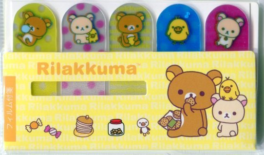 Image 0 of San-X Rilakkuma Relax Bear 5 Design Semi-transparent Sticky Note #4 (MP0216)